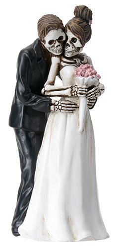 Day of the Dead Skeleton Skull Bride & Groom Wedding Statue Figurine by Summit