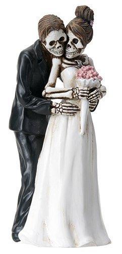 Day of the Dead Skeleton Skull Bride & Groom Wedding Statue Figurine by Summit