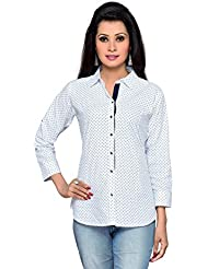 ALC Creations White Printed Cotton Shirt
