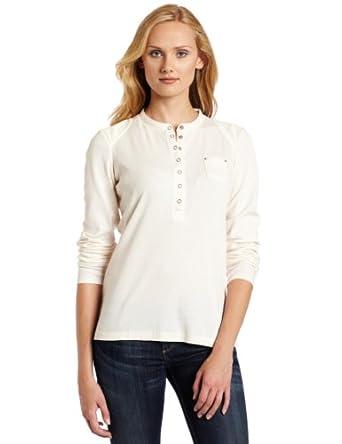 (超值)Dickies Women's Shirt迪基斯女子长袖罗纹亨利T恤樱桃红7.63$