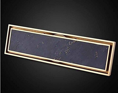 CU Mode simple longue vidange déodorant drain en cuivre panneaux épaissies drain de plancher de douche extra large
