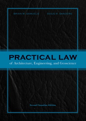 practical law of architecture engineering and geoscience canadian edition pdf