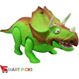 Smart Picks Battery Operated Dinosaurs With Light And Sounds (GREEN)