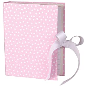 Caspari Small Dots 4-Inch by 6-Inch Flip Photo Album with Photo Cover, Pink