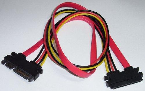 TFTEC 変換名人 SATA(データ&電源)ケーブル (オス⇔メス) 50cm SPAB-CA50