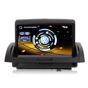 Koolertron-autoradio DVD système de navigation pour 2005-2010 VW Touareg - 7'' HD moniteur écran tactile et GPS Bluetooth USB - vous pouvez écouter de la musique ou radio et parcourir les photo pendant la navigation