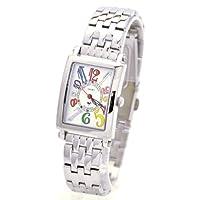 [ミッシェルジョルダン]michel Jurdain 腕時計 スポーツ ダイヤモンド メタルバンド  ホワイトXマルチカラー SL-3000-6B レディース