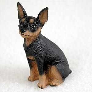 Amazon.com - Miniature Pinscher Tan & Black Tiny One Figurine (Set of