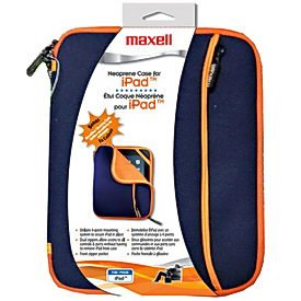 Maxell 191066 iPad Neo Zipper Case - Navy/Orange