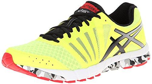 ASICS Men's Gel-Lyte33 2 Running Shoe,Flash Yellow/Black/Red,11.5 M US
