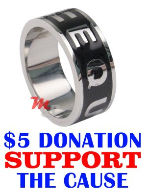 Official EQUALITY Marriage Boycott GAY Lesbian Ring S 8