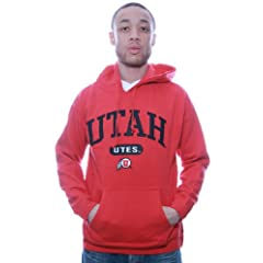 NCAA Utah UTES Red Hooded Sweatshirt College Hoodie (29E) by J. America