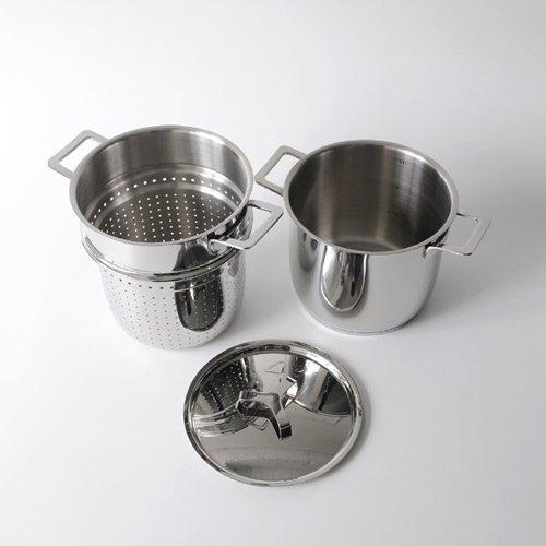 A di alessi ajm306set pots pans pasta set in acciaio for Offerte pentole alessi
