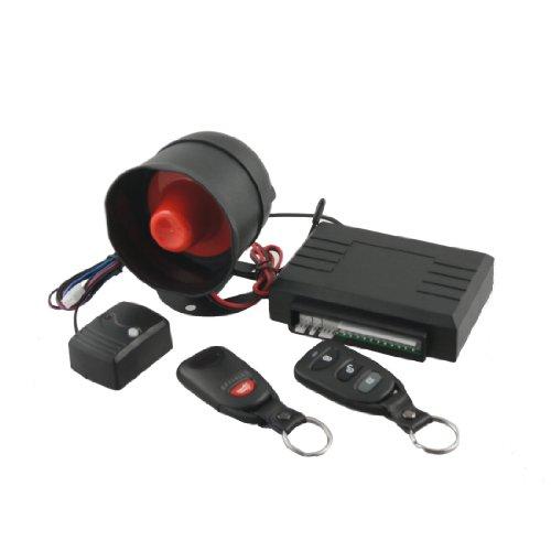 Keyring Remote Controller Car Alarm Security System + Shock Sensor