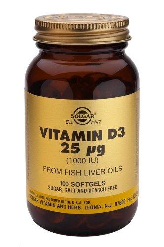 Solgar-Vitamin D3 1000 IU (Cholecalciferol): 100 Softgels