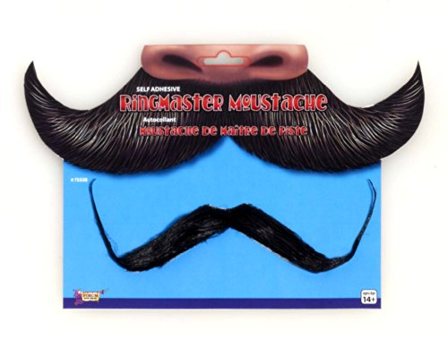 Forum Circus Ring Master Black Jumbo Moustache Costume Mustache