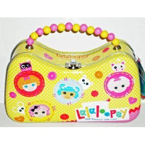 Lalaloopsy Yellow Scoop Purse Tin with Beaded Handle