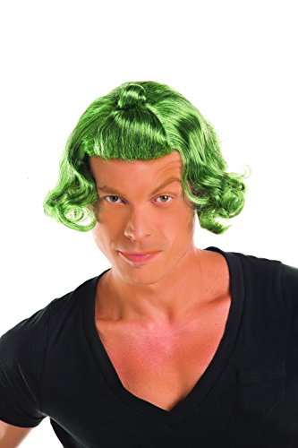 Party King Men's Candy Man Costume Wig, Green, One Size