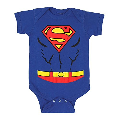 Superman Costume Infant Snapsuit- 0-6 Months