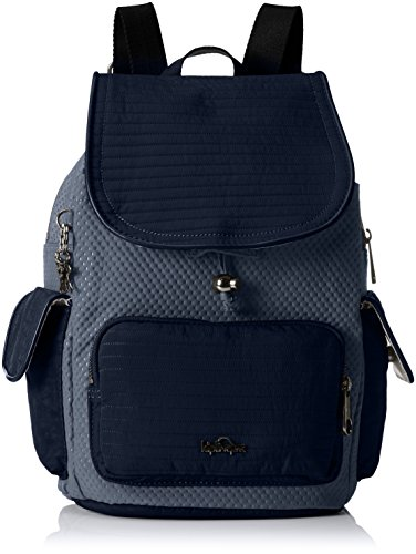 Kipling City Pack S, Borsa a Zainetto Donna, Multicolore (REF33S Craft Blue Blk), 27x33.5x19 cm (B x H x T)