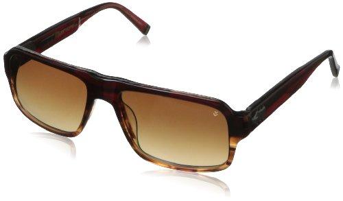 John Varvatos V785 V785RED56UF Rectangle Sunglasses,Redwood,56 mm