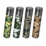 4 Clipper Lighters - Camo Collection by Clipper