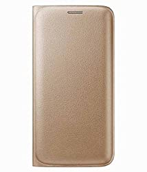 Vibhar Plain Premium Leather Cell Phone Case Mobile Flip Cover for Redmi 3s Prime - Gold