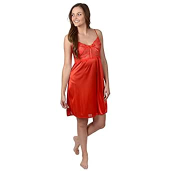 Happie Brand Womens Lacy Chemise Nightgown