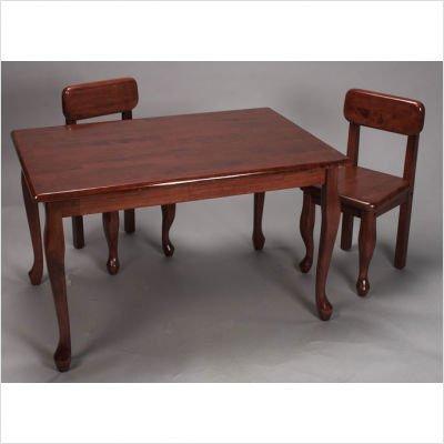 Gift Mark Queen Anne Rectangle Children Table, Cherry