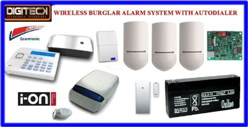 Tc105-Scantronic Ion-16 Wireless Intruder Alert Burglar Alarm Autodialer System front-603019