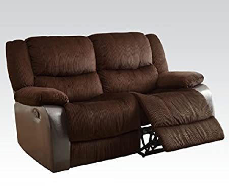 Bernal Loveseat with Motion in Chocolate Finish by Acme Furniture