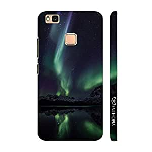Enthopia Designer Hardshell Case Northern Lights Back Cover for Huawei P9 Lite