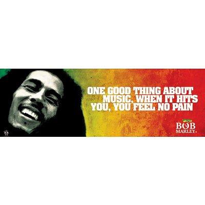Bob Marley (No Pain) Music Poster Print - 12x36 Poster Print, 36x12