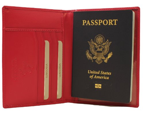 Visconti Soft Leather Passport Cover - POLO 2201 (Fuscia)