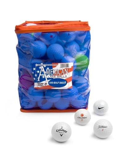 Mail Order Golf 100-B-BAG American Lake 100 palline da golf con custodia in PVC