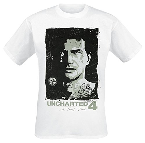 Uncharted 4 - Drake Compas T-Shirt bianco M