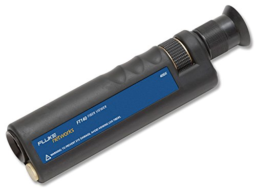 Fluke Networks Ft140 Handheld Fiberviewer Microscope, 400X Magnification With 2.5Mm Universal Adapter, Fiber Tester