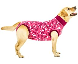 Suitical Recovery Suit Large for Dogs in Pink Camo. Professional alternative to the Cone of Shame. Suitable for wound and Bandage protection, Hotspots, Skin Diseases, Light Incontinence, When in Heat. Recommended by thousands of vets worldwide.