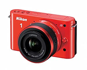 Nikon 1 J2 10.1 MP HD Digital Camera with 10-30mm and 30-110mm VR Lenses (Orange)