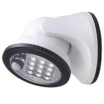 LIGHT IT by Fulcrum 20034-108 12-LED Wireless Motion Sensor Weatherproof Porch Light, White