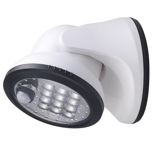 LIGHT IT by Fulcrum 20034-108 12-LED Wireless Motion Sensor Weatherproof Porch Light, White (Motion Sensor Led Porch Light compare prices)