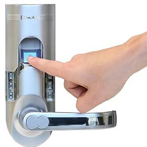 iTouchless Bio-Matic Fingerprint Door Lock For Right Hand Door, Silver