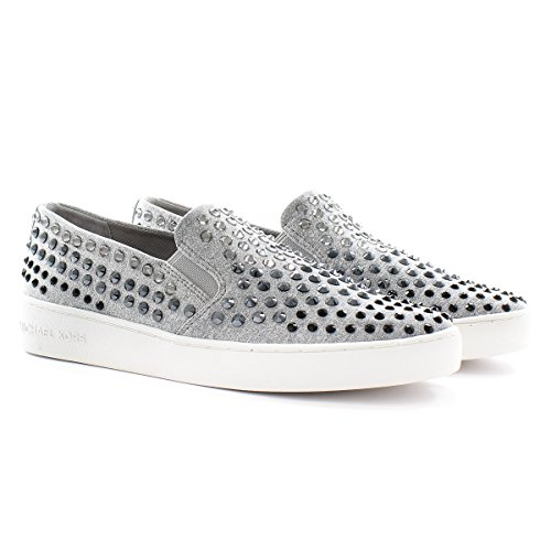 Michael Kors Sneaker Keaton Slip On Pgry Silver Stretch 39