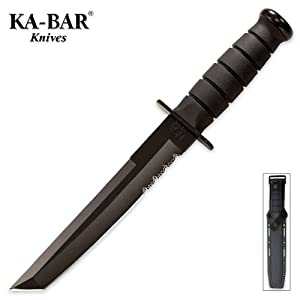 Ka-Bar 2-1245-1 Black Tanto Knife by Ka-Bar