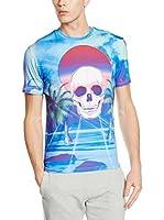 Mr. Gugu & Miss Go Camiseta Manga Corta Unisex Paradise Skull (Azul)