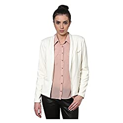 Kaxiaa Polyester Cream Coat For Women (Size-Large)
