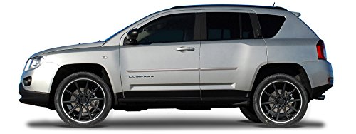 2007-2015 Body Side Moldings with Chrome Insert for JEEP Compass - Liquid Charcoal Pearl AV/HAV