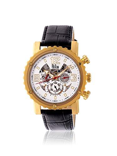 Reign Men's REIRN1903 Alpin Gold-Tone/Black Leather Watch