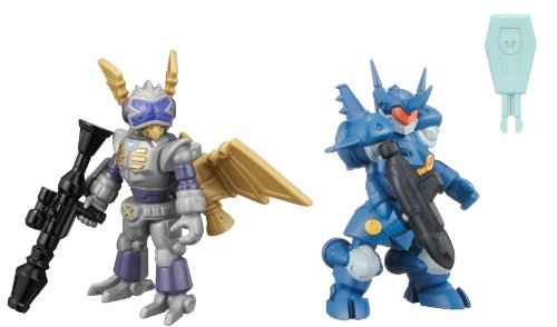 LBX Battle Custom Figure Set LBX Sea Serpent & LBX Bibinbird Silver (Completed)