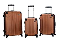 Rockland 3 PC Sonic ABS Upright Set, Brown, One Size